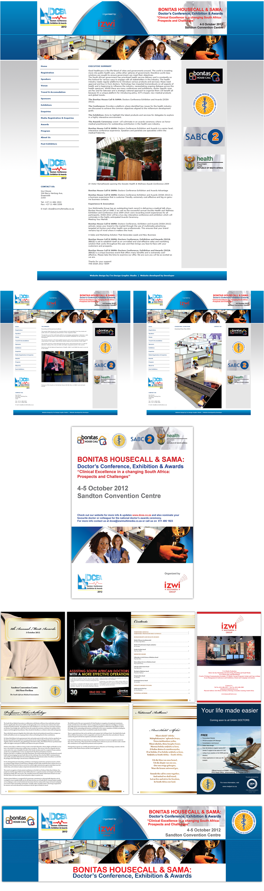 DCEA Stationary & Website Design