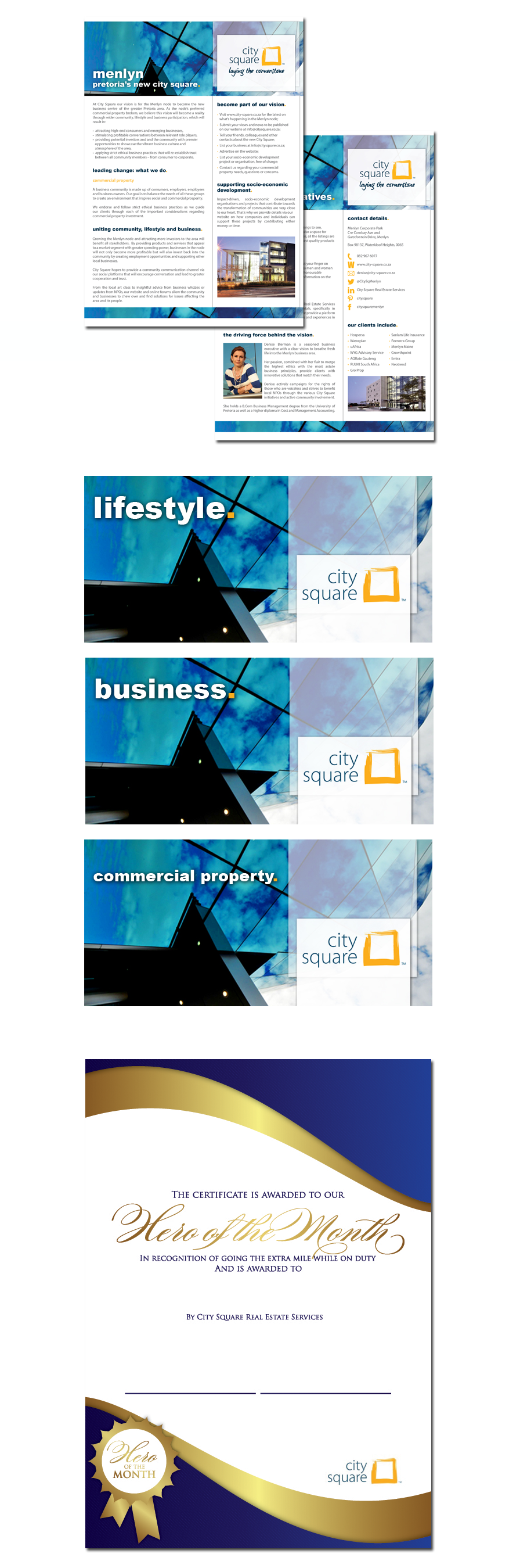 City Square Corporate Stationary Design